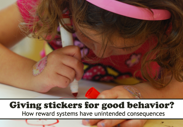 We should encourage good behavior for good behavior's sake, allowing children the opportunity to enjoy a job well done.