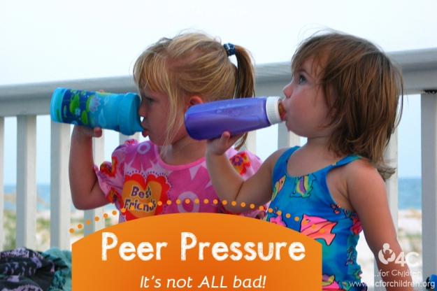 There can be a positive outcome to peer pressure!