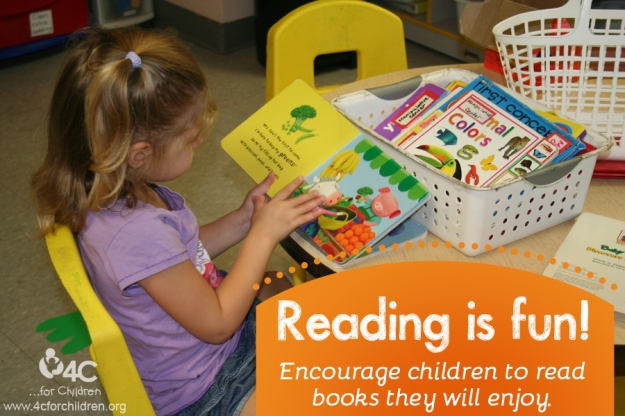 Encourage book exploration, have lots of options available in your ECE program