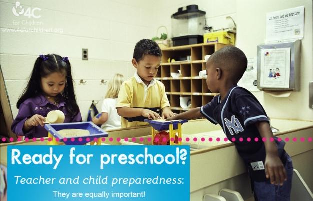 Who should be ready, the preschool or the preschooler?