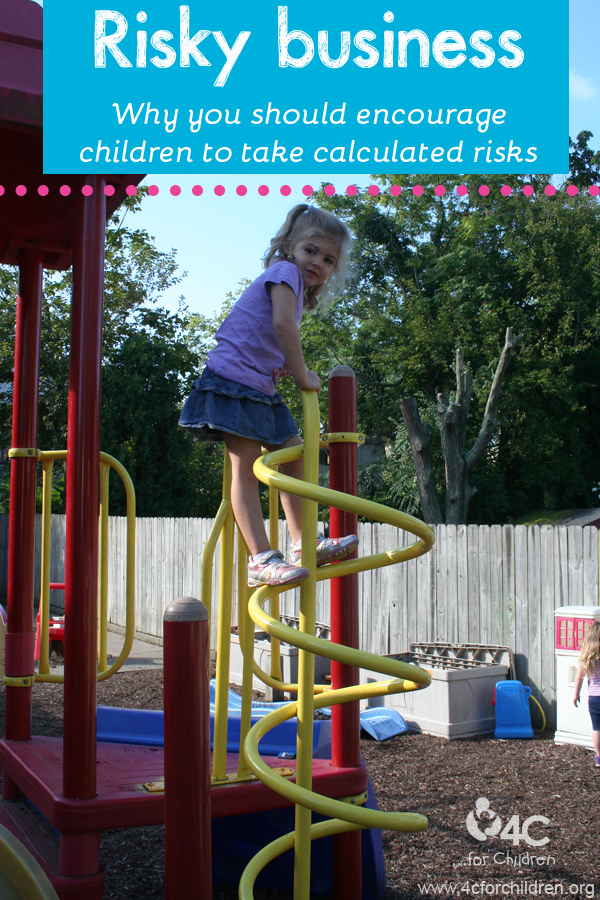 How do you encourage healthy risk-taking in your child care program?