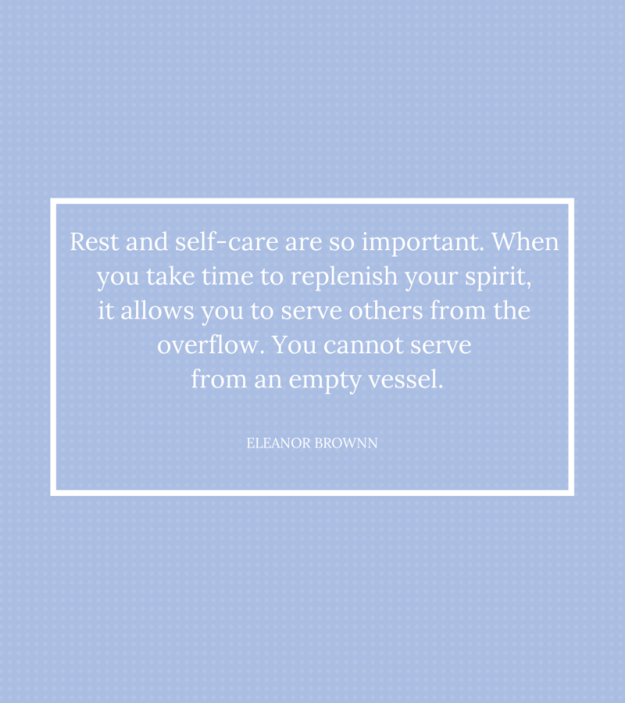 When your job is to take care of others, it's important to take care of yourself!