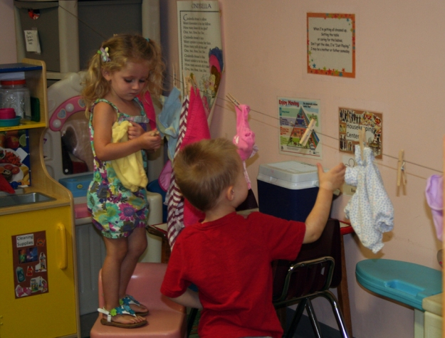 Playing in the pretend or drama area is beneficial for all the children in the classroom!