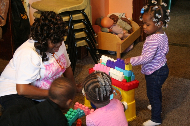 Children learn a lot through interacting with each other—and with caregivers!